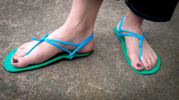 Hanna's DIY sandal results