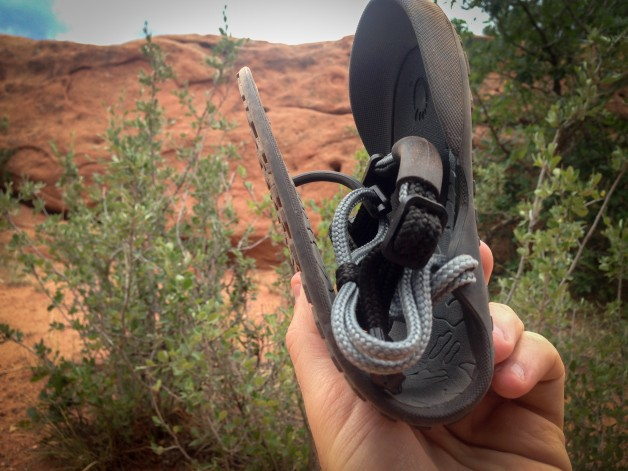 The Amuri Cloud barefoot running sandal is so flexible it can be folded and even rolled!