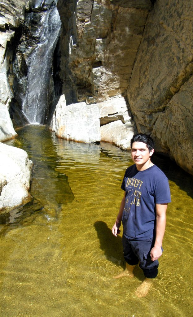 Jose cooling off at Seven Falls.