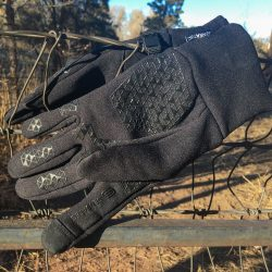 Head touchscreen running gloves with sensatec